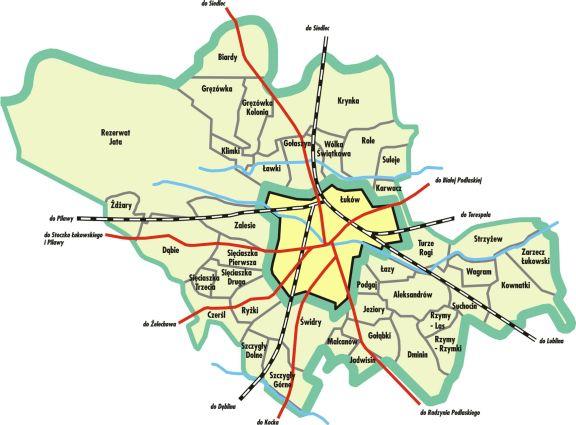 Gmina Łuków - mapa - kliknija aby powiększyć